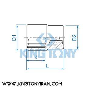 بکس ¼ درایو کوتاه 6 پر(میلیمتری) 2335M