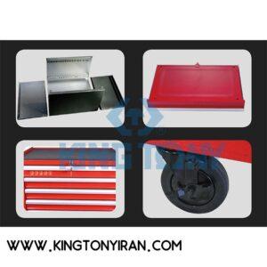 جعبه ابزار چرخدار کینگ تونی 5 کشوی 87432-5B